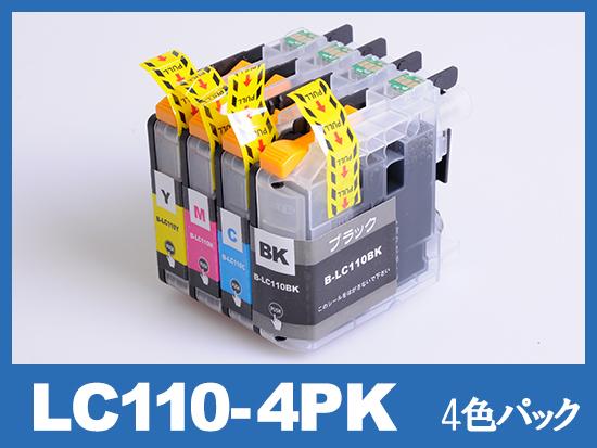 LC110-4PK(4色パック) ブラザー[Brother]互換インクカートリッジ