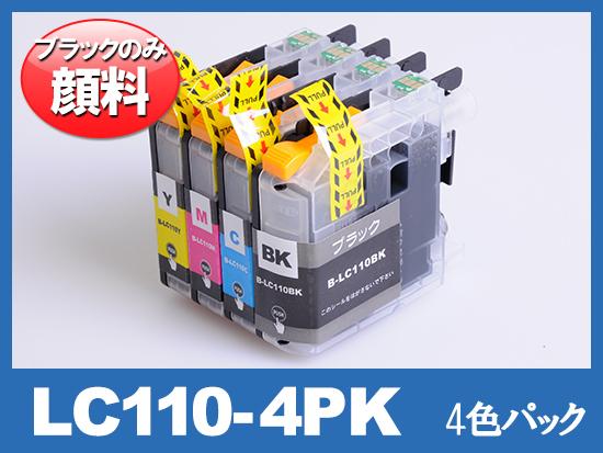 LC110-4PK(顔料4色パック) ブラザー[Brother]互換インクカートリッジ