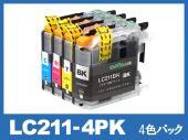 LC211-4PK(4色パック)ブラザー[brother]互換インクカートリッジ